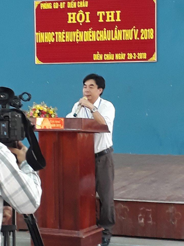 Ông Mai Ngọc Long - Phó trưởng Phòng GD&ĐT, Chủ tịch hội đồng coi thi khai mạc Hội thi