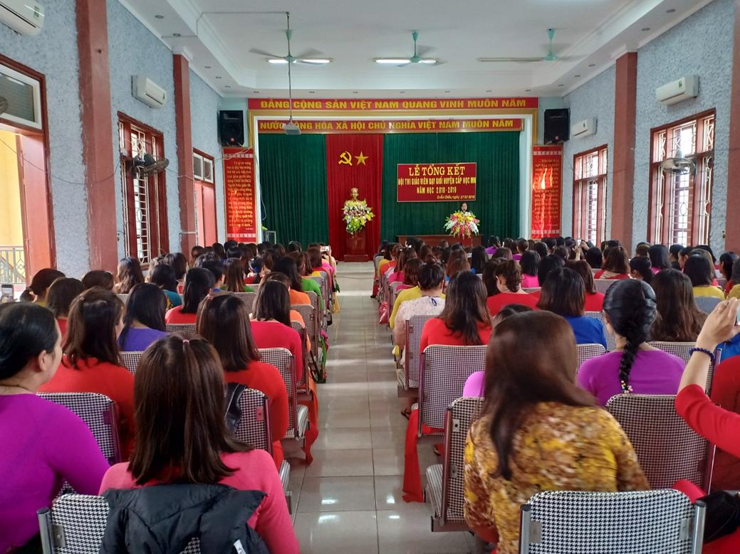 Hội thi giáo viên dạy giỏi huyện cấp học mầm non năm học 2018-2019